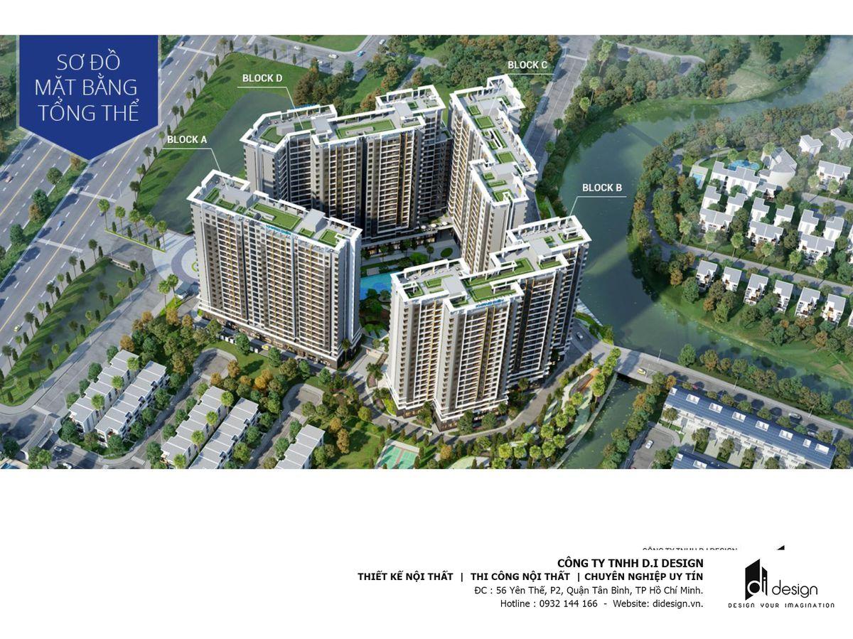 Mặt bằng căn hộ Safira Khang Điền
