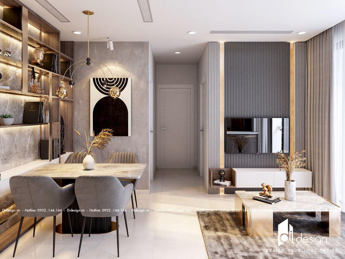 Thiết kế nội thất căn hộ 65m2 2 phòng ngủ Vinhomes đẹp ấn tượng