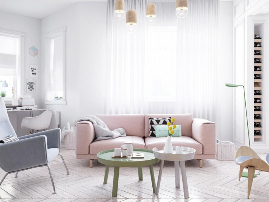 Thiết kế nội thất căn hộ chung cư 68m2 Heaven Cityview 2019