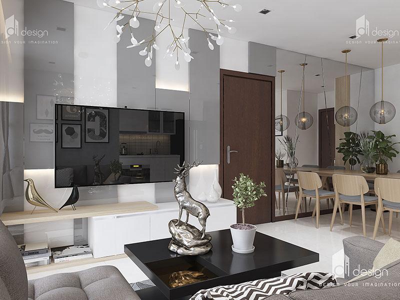 Thiết kế nội thất căn hộ Vinhomes Central Park Tân Cảng 72m2