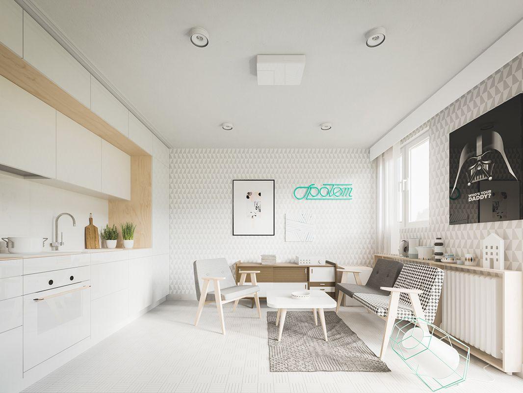 Thiết kế căn hộ The Signial 57m2 đơn giản hiện đại