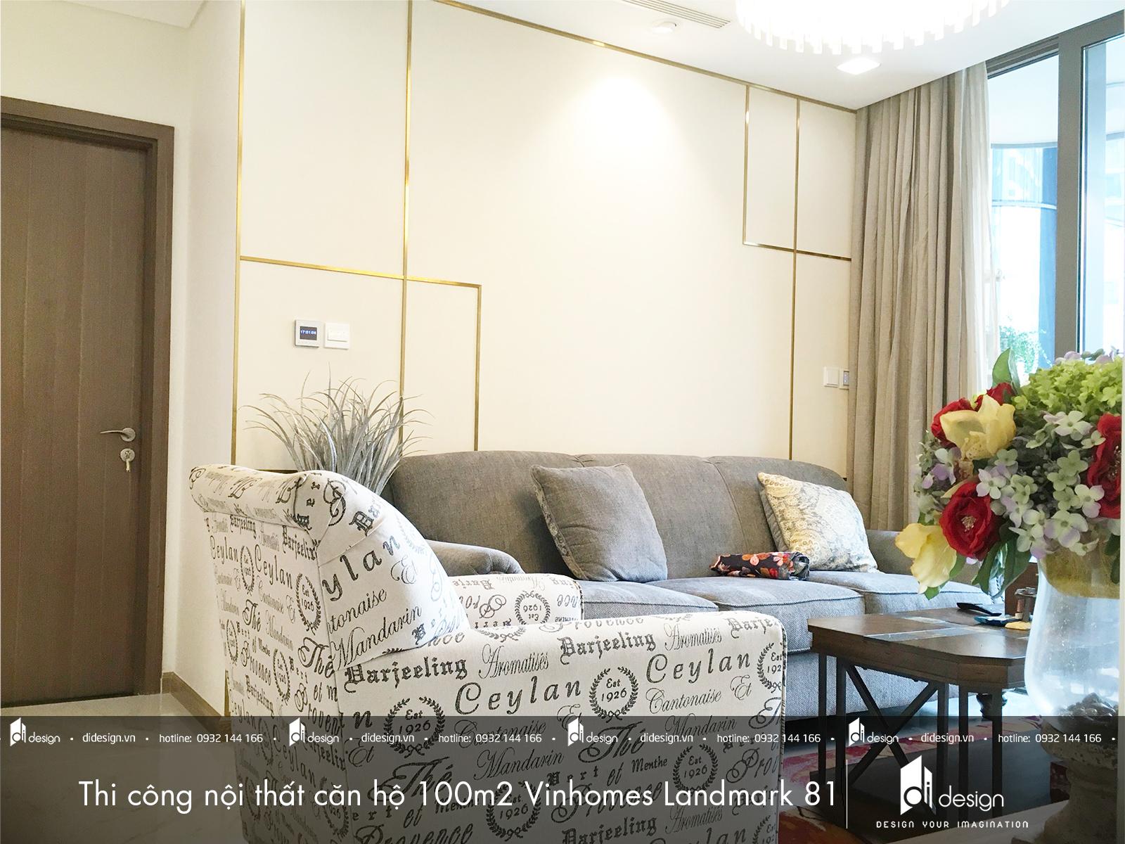 Thi công nội thất căn hộ 100m2 Vinhomes Landmark 81