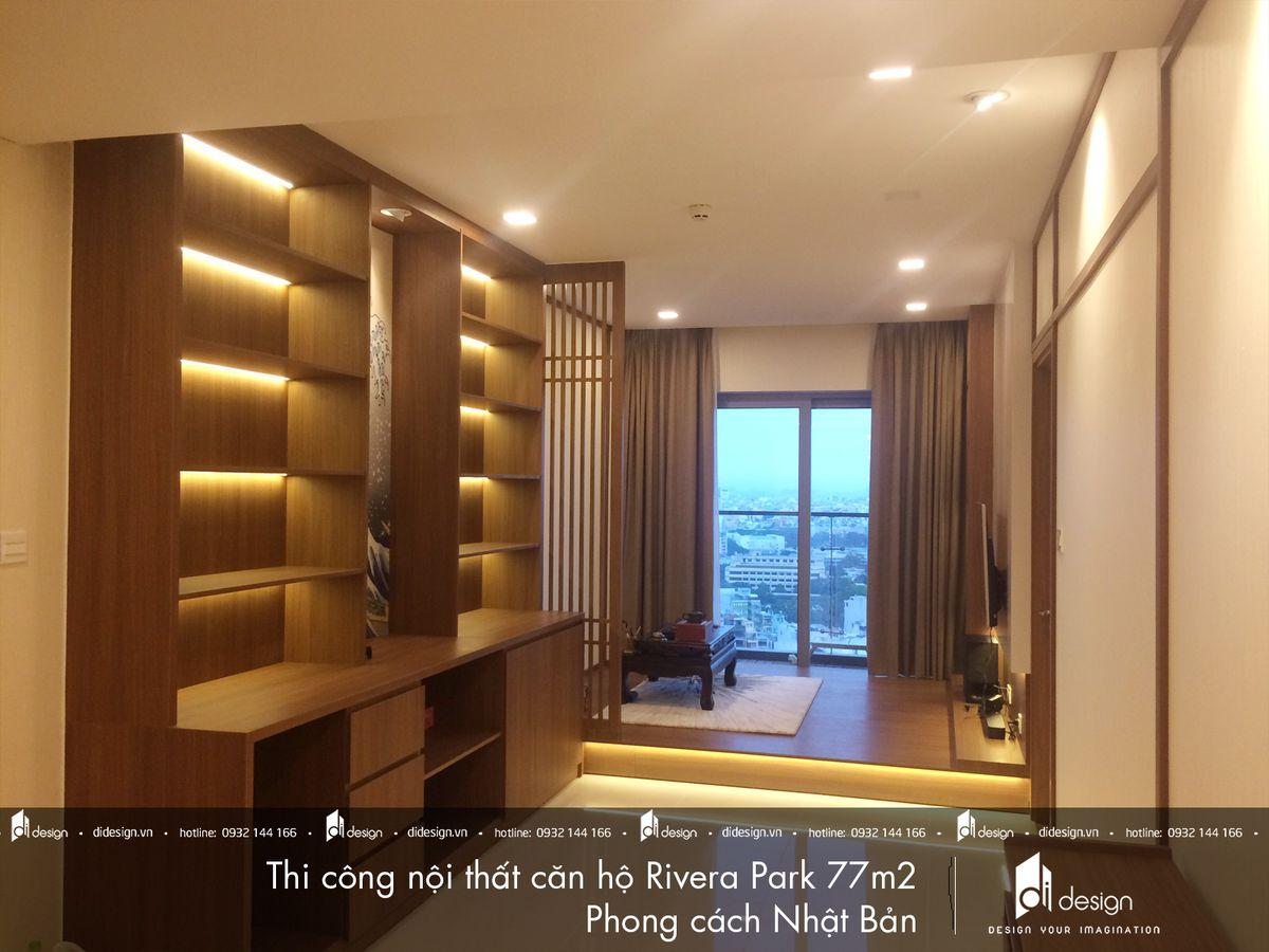 Thi công nội thất căn hộ Rivera Park 77m2