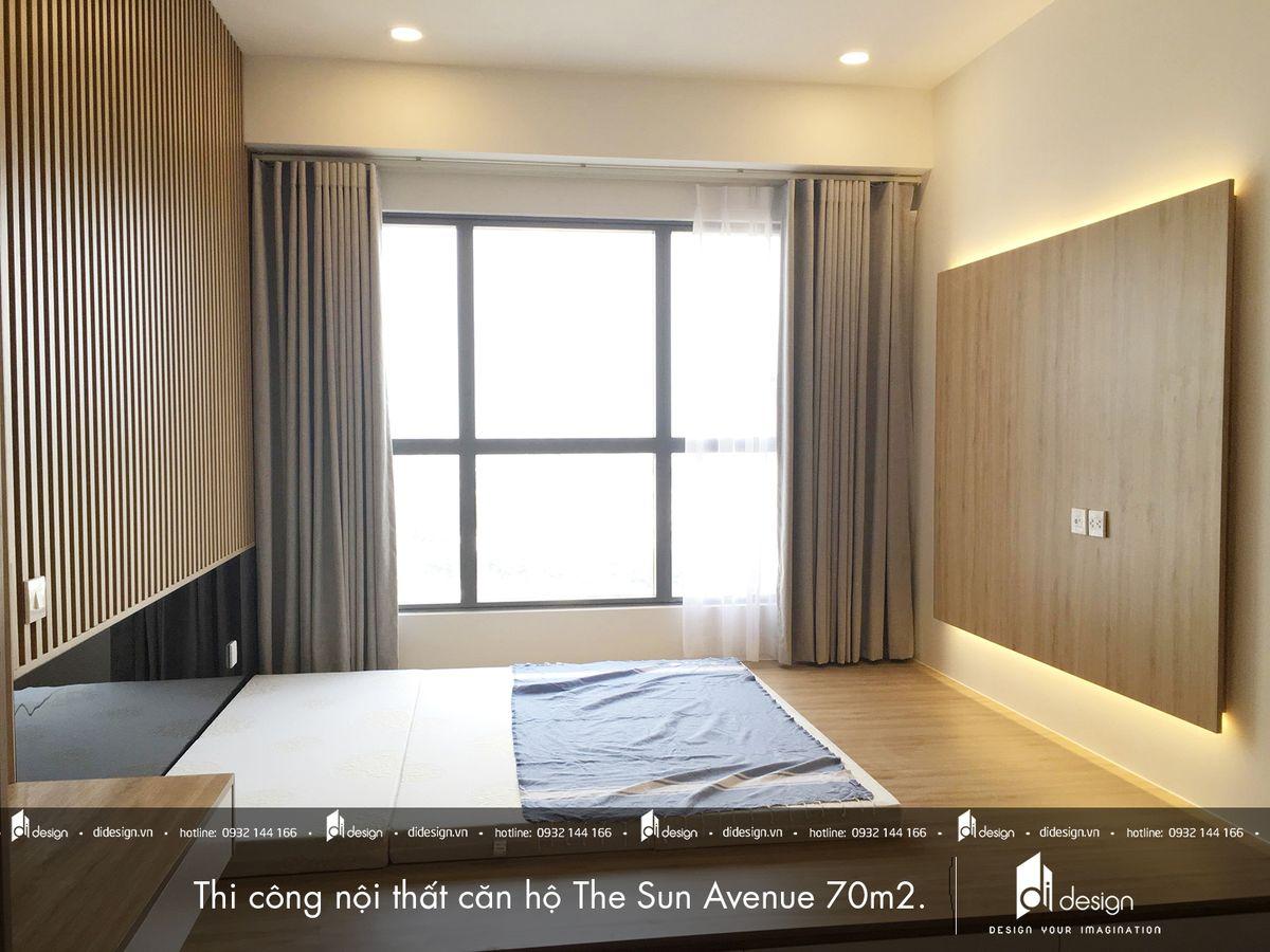Thi công nội thất căn hộ 70m2 The Sun Avenue