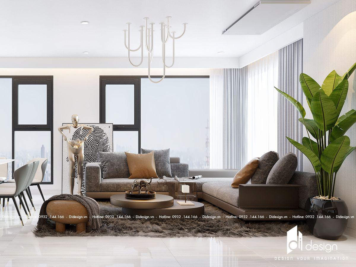 Thiết kế căn hộ 120m2 3 phòng ngủ Eco Green Saigon