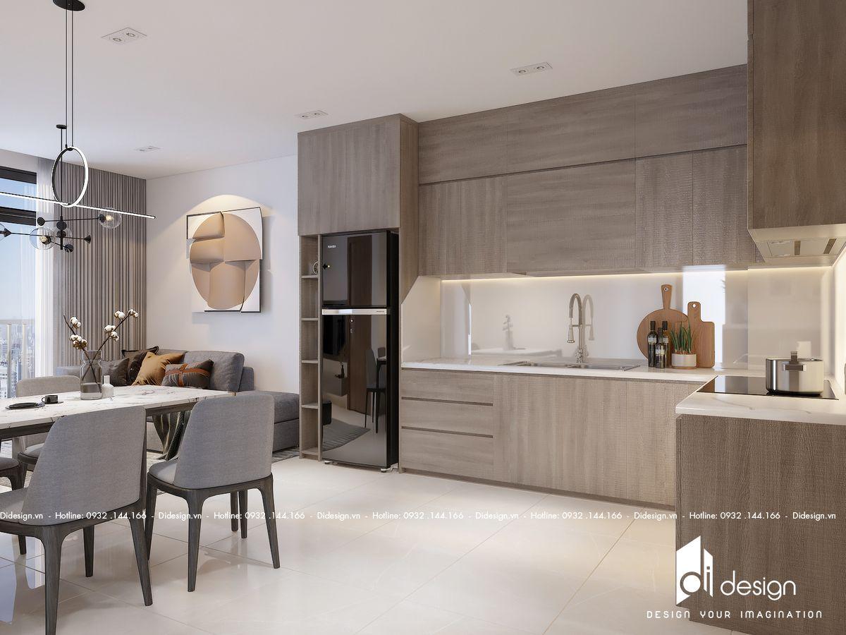 Thiết kế căn hộ 58m2 Celesta Rise đẹp đúng chuẩn nhà mẫu