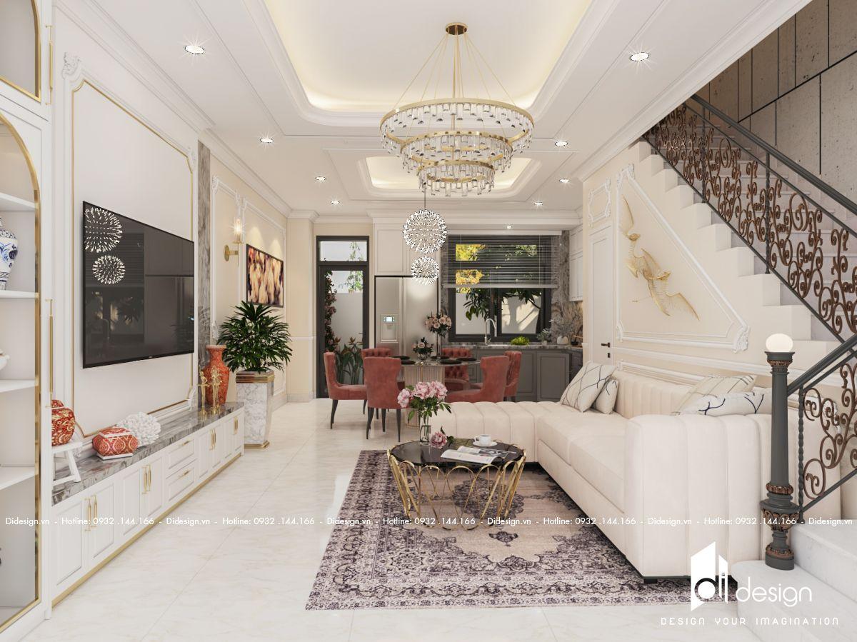 Thiết kế nội thất căn hộ Duplex One Verandah 151m2 tân cổ điển