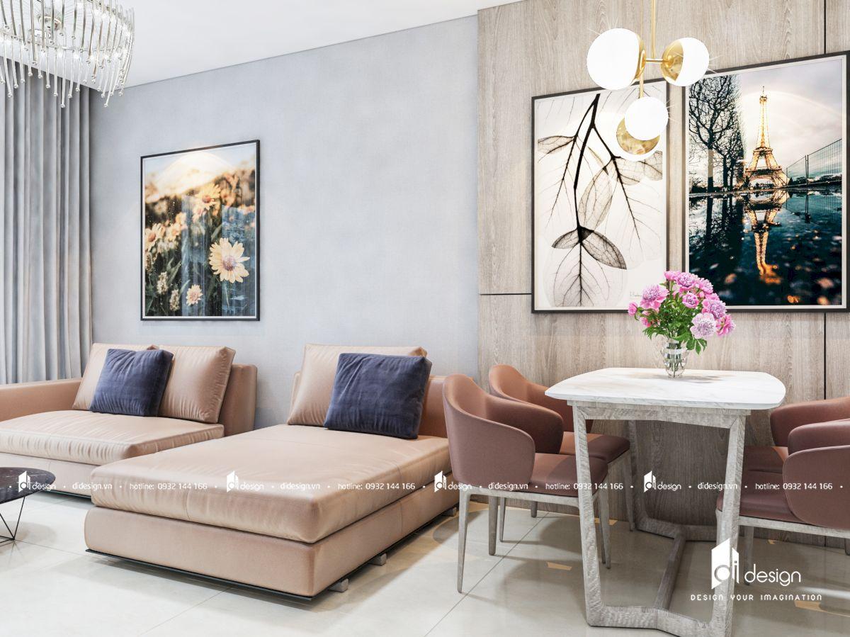 Thiết kế căn hộ chung cư Safira Khang Điền 3 phòng ngủ theo phong cách hiện đại