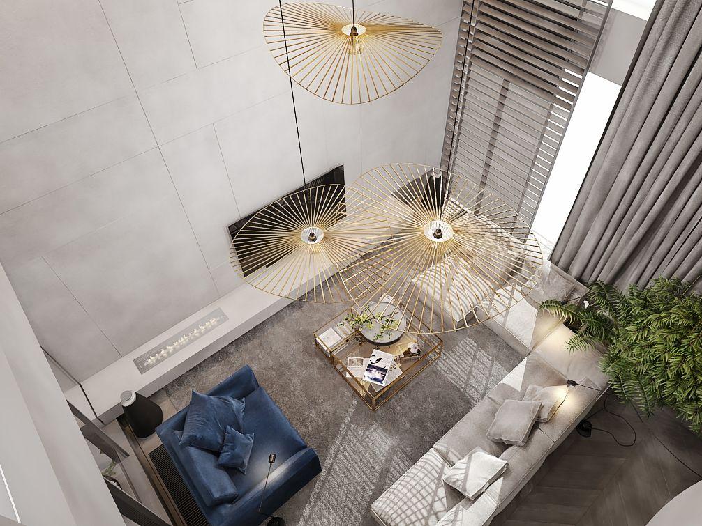 Thiết kế căn hộ duplex 98m2 celadon cao cấp