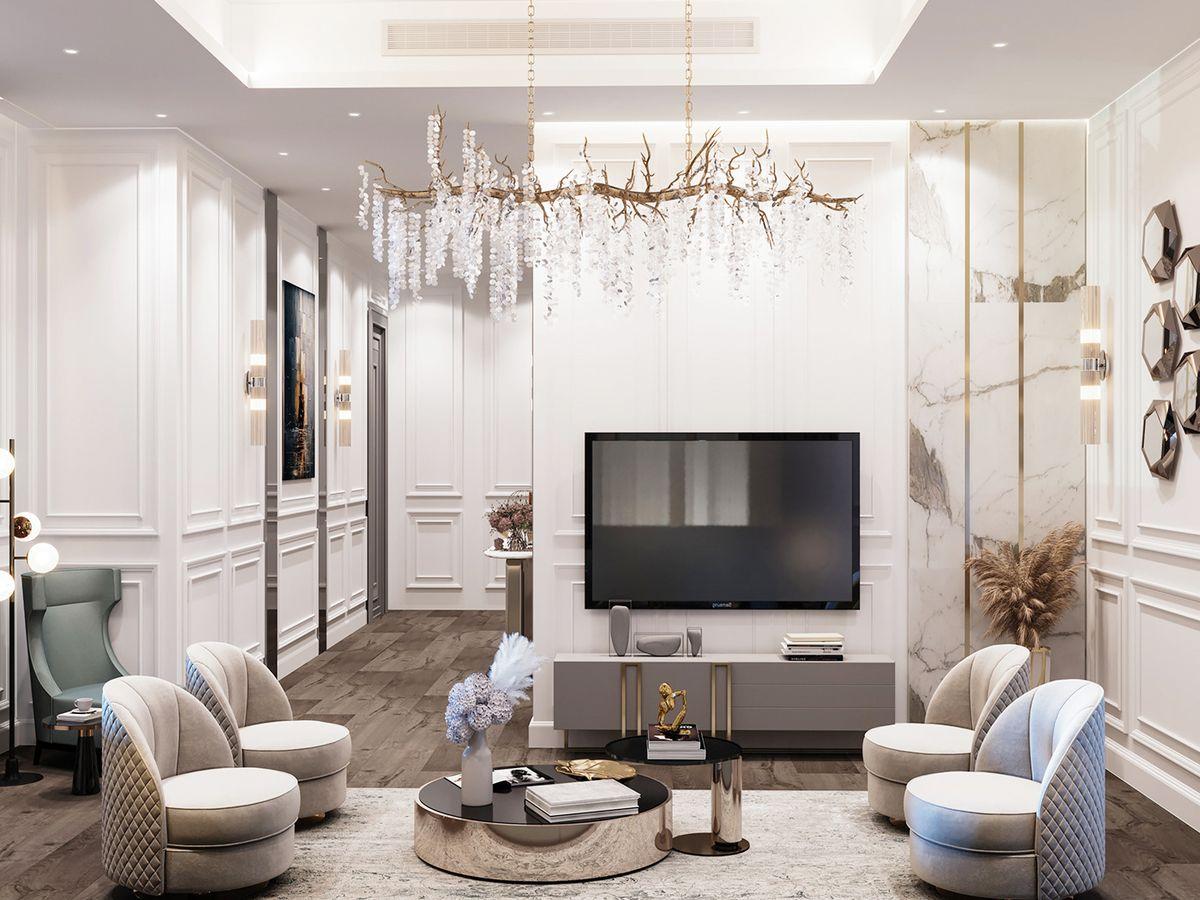 Thiết kế căn hộ The Grand Manhattan 95m2 thành không gian đẳng cấp 5 sao