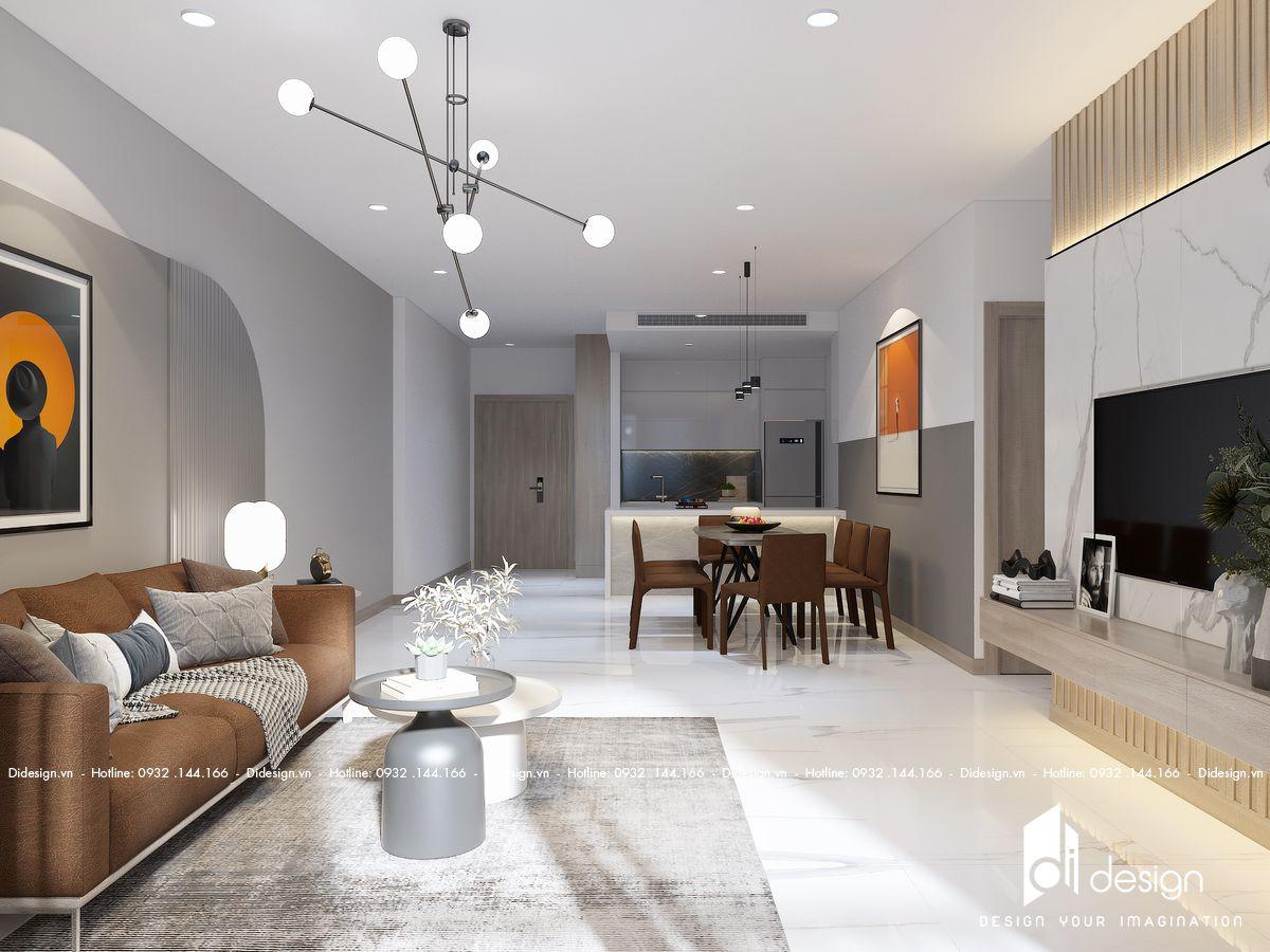 Thiết kế căn hộ The Infiniti Riviera Point 90m2 đẹp