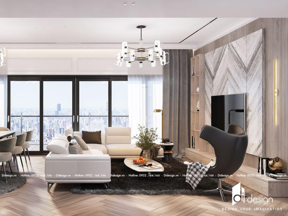Thiết kế căn hộ The Opera Residence 122m2 quận 2