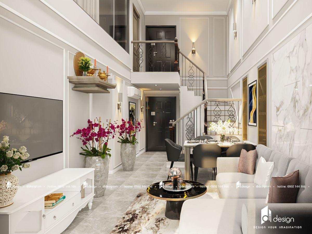 Nội thất căn hộ thông tầng Feliz En Vista 103m2 không gian hoàn hảo