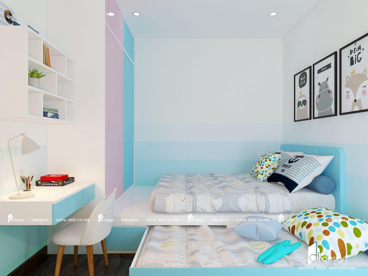 Thiết kế không gian phòng ngủ trẻ em căn hộ Saigon Mia
