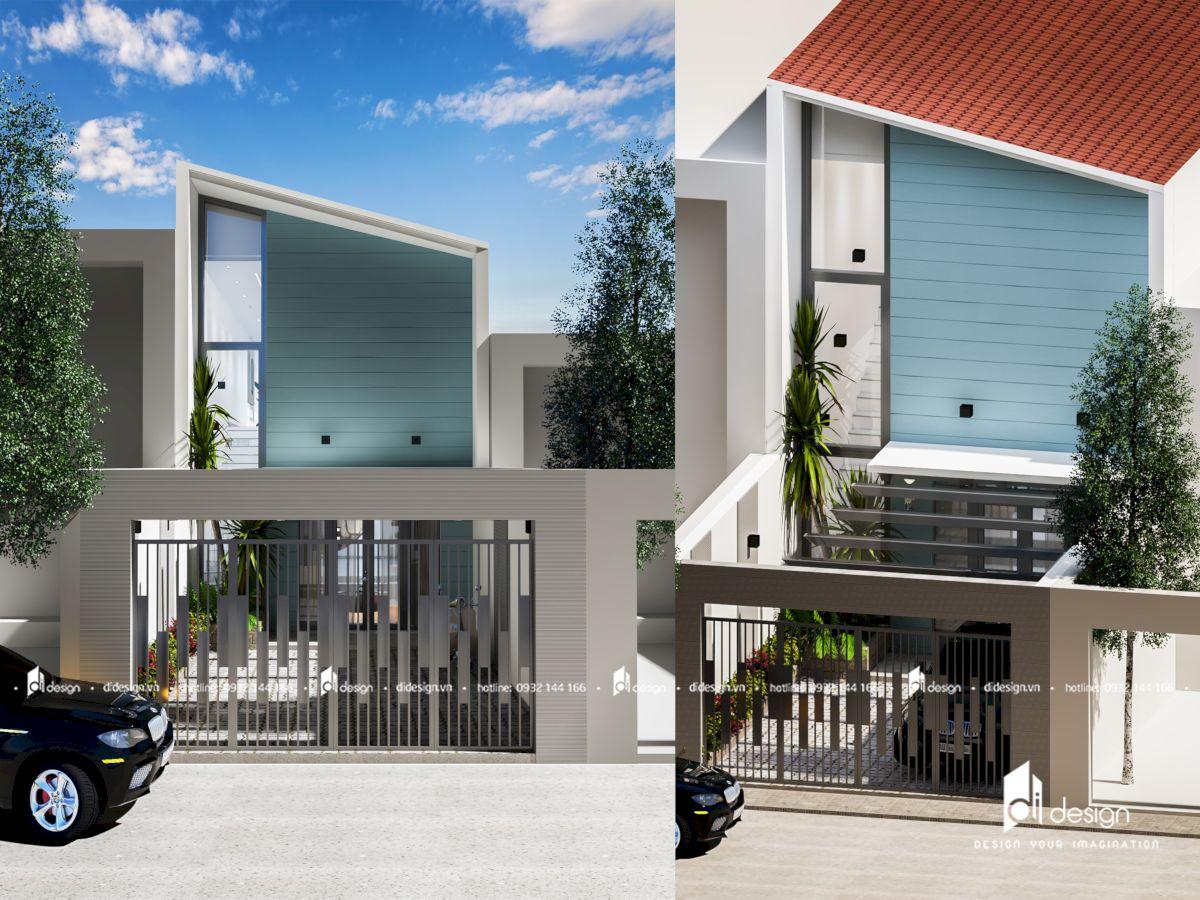 Thiết kế nhà phố hiện đại 2 tầng Dragon Garden quận 9