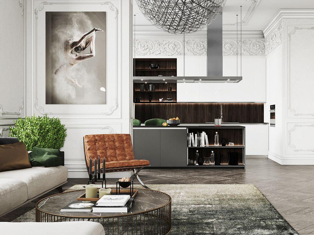 Thiết kế nội thất biệt thự Galleria tân cổ điển