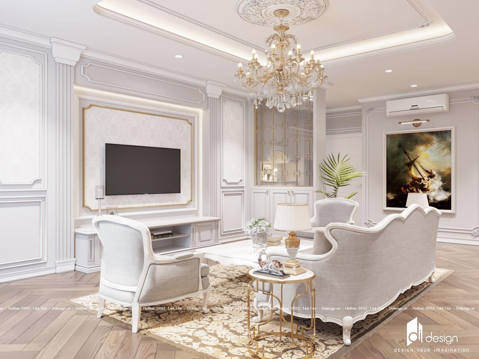Thiết kế nội thất biệt thự song lập Vinhomes 200m2