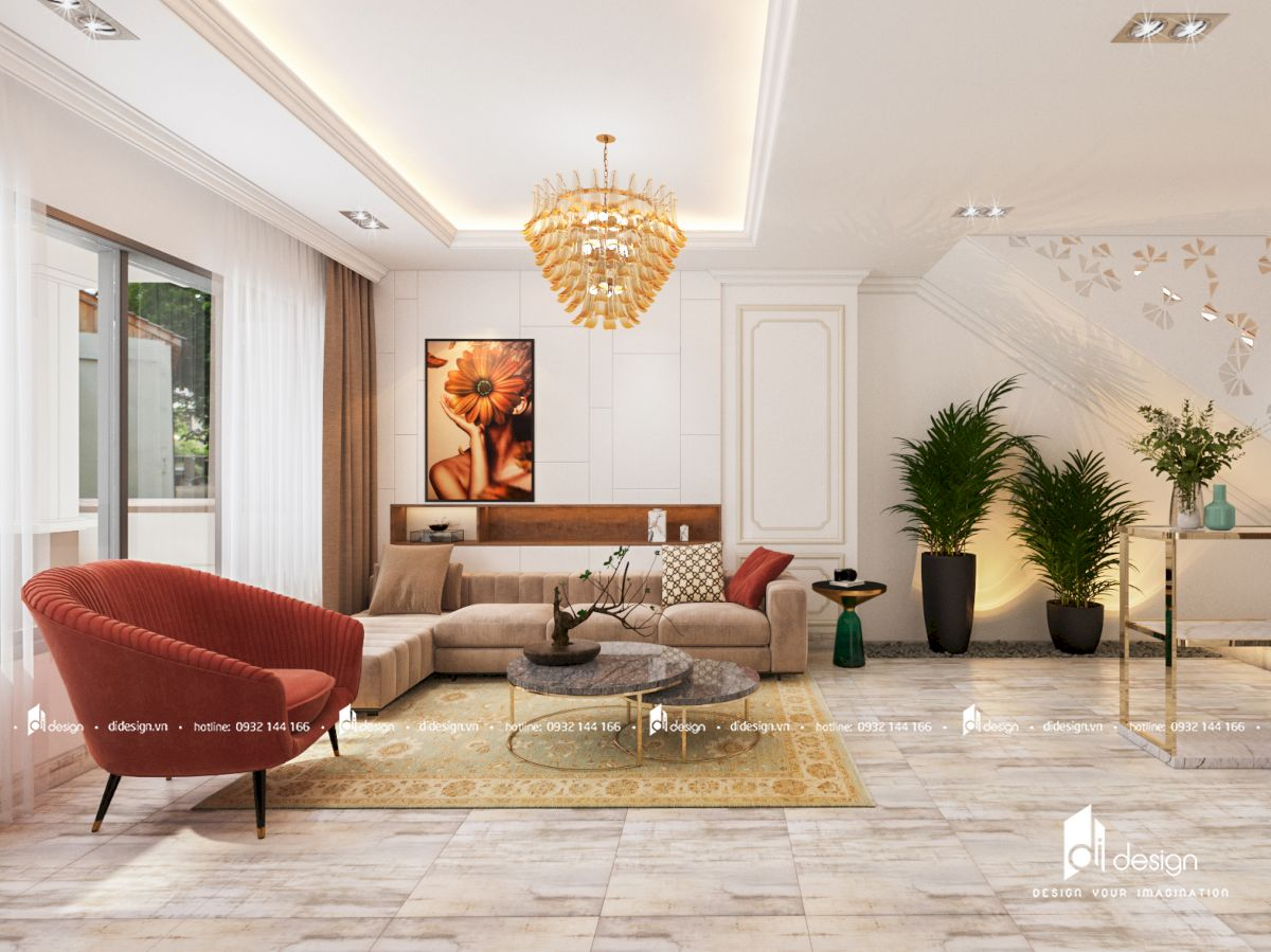 Thiết kế nội thất biệt thự Venita Park Khang Điền Quận 9 phong cách tân cổ điển