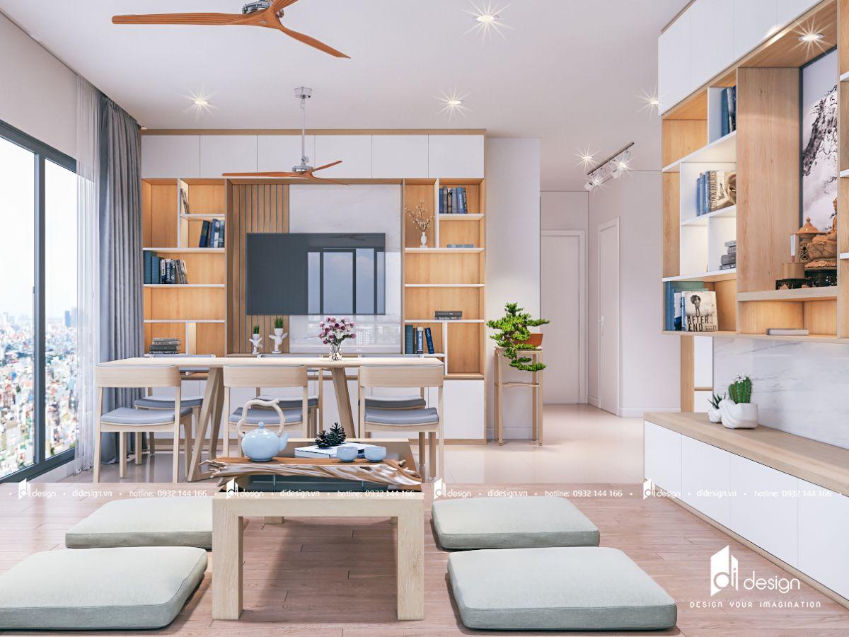 Thiết kế căn hộ 2 phòng ngủ Mizuki Park phong cách Nhật
