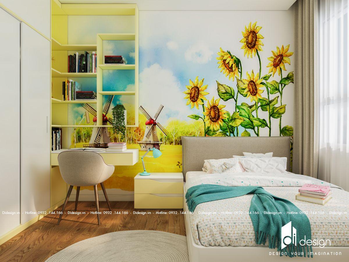 Thiết kế căn hộ 64m2 Safira Khang Điền tràn đầy năng lượng, yên bình