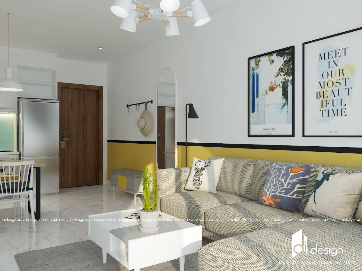 Thiết kế nội thất căn hộ 72m2 Terra Mia đẹp yên bình