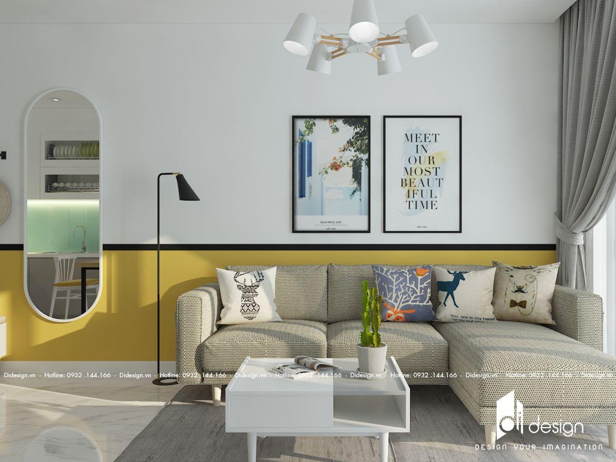 Thiết kế nội thất căn hộ 79m2 Diamond Brilliant màu sắc ngọt ngào của đôi vợ chồng trẻ