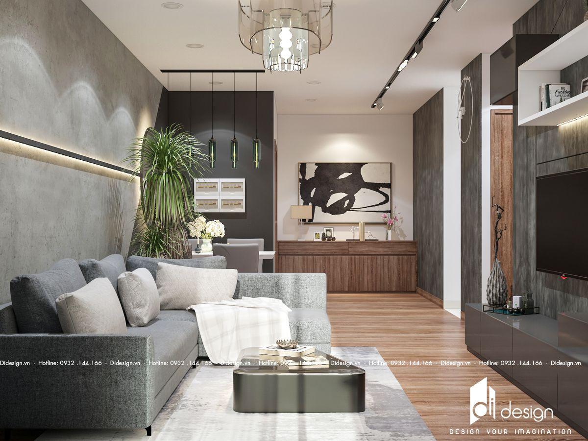 Thiết kế nội thất căn hộ Sunshine Diamond River 86m2