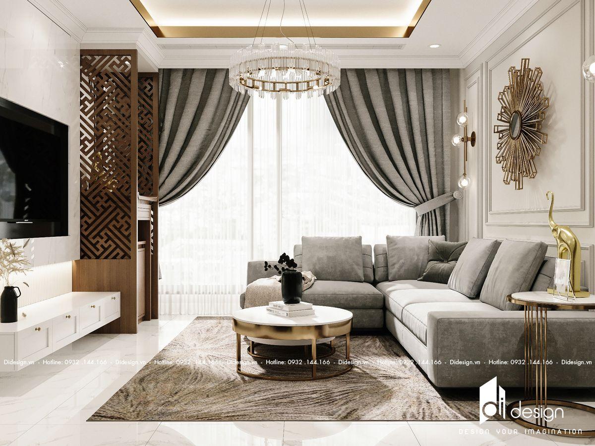 Thiết kế nội thất căn hộ Empire City 118m2 sang trọng và thanh lịch