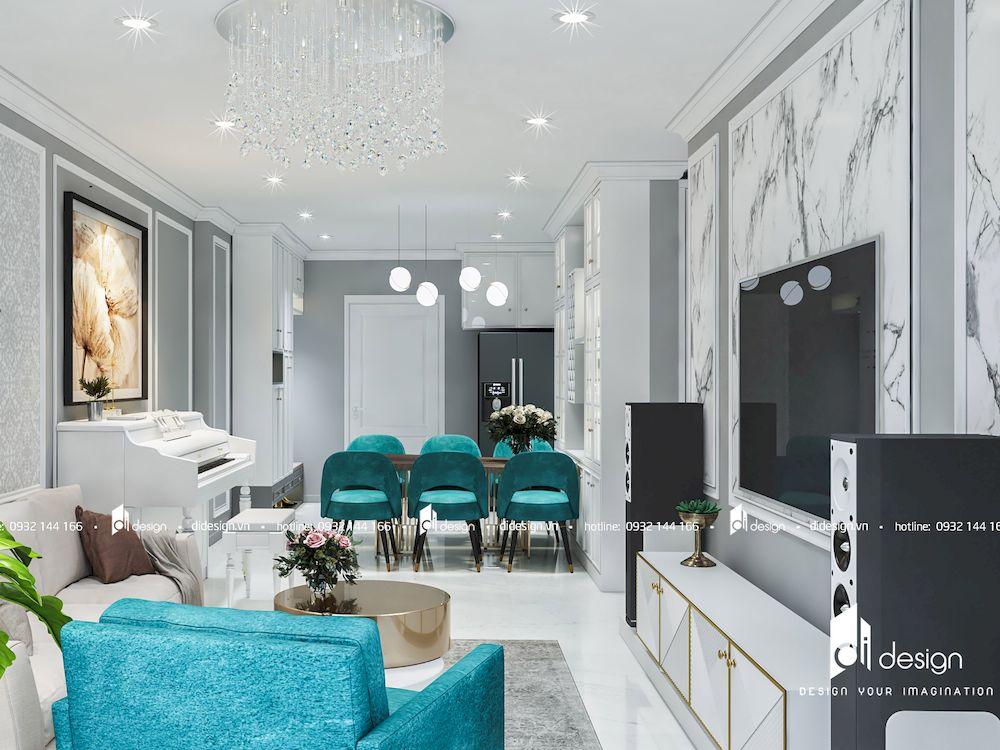 Thiết kế nội thất căn hộ Hado Centrosa 97m2 3 Phòng Ngủ