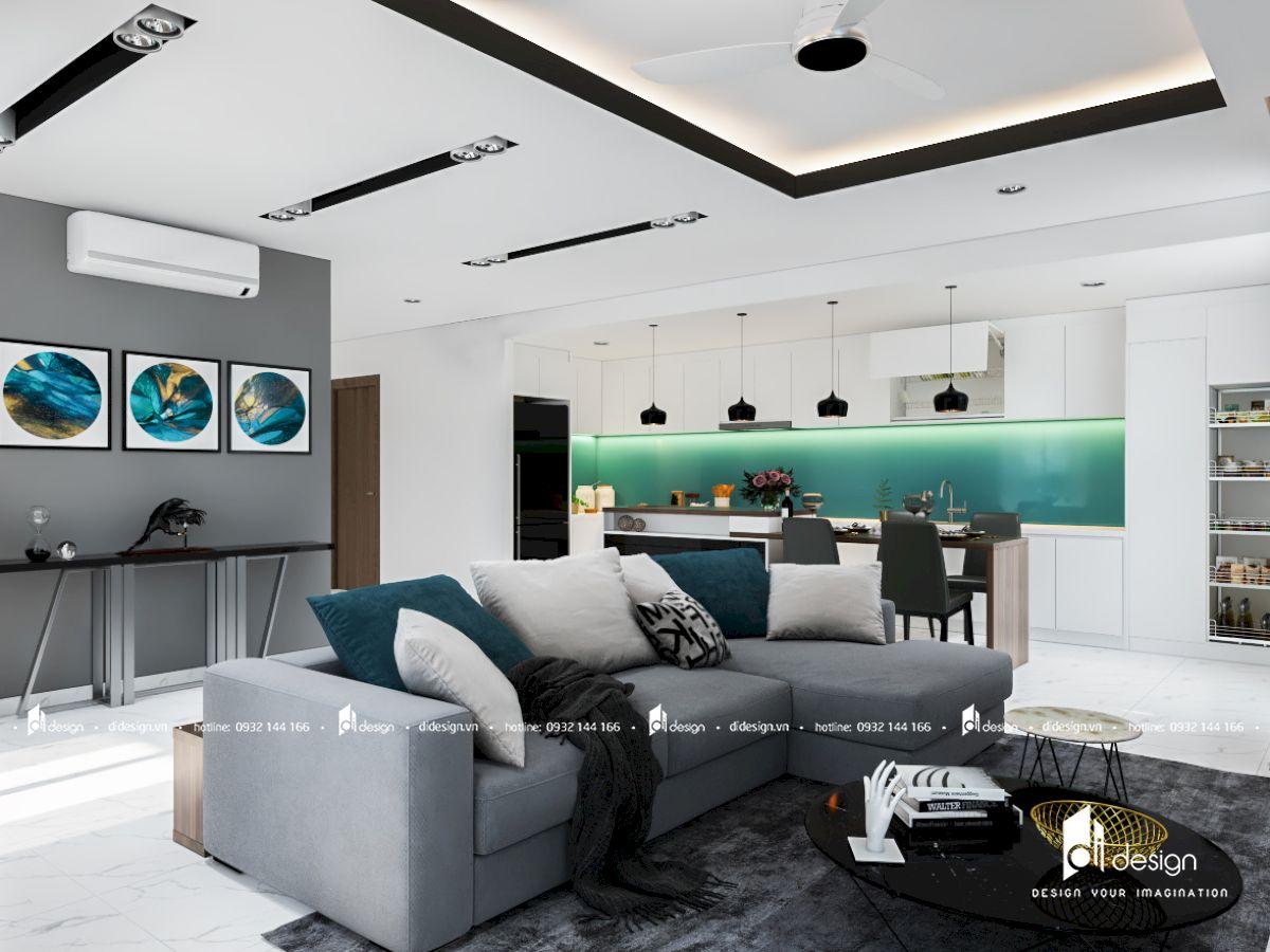 Thiết kế nội thất căn hộ Orchard ParkView 81m2 đẹp
