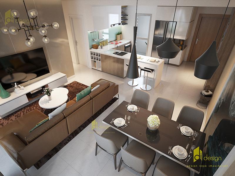 Thiết kế nội thất căn hộ Riviera Point 98m2 2019