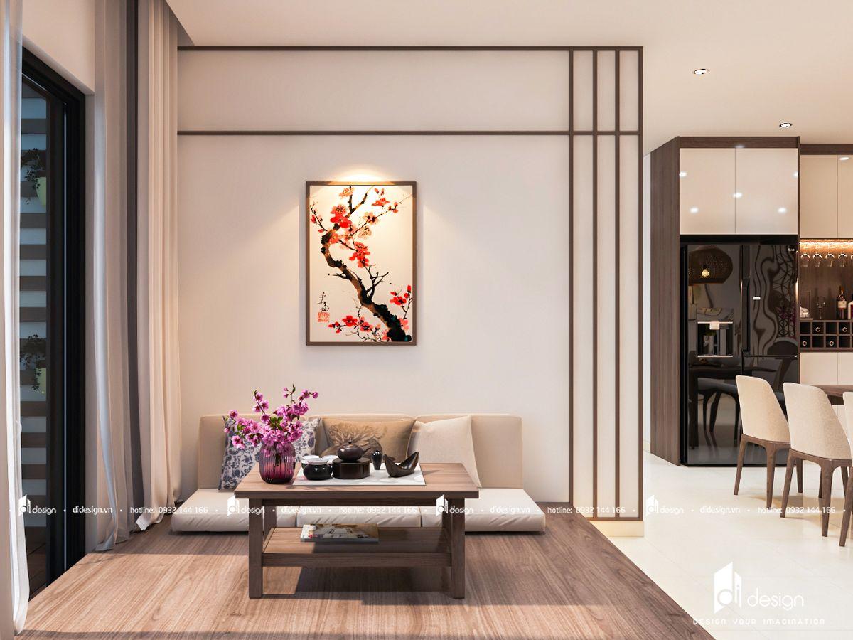 Thiết kế nội thất căn hộ SSR Saigon South Residences 95m2 phong cách Nhật