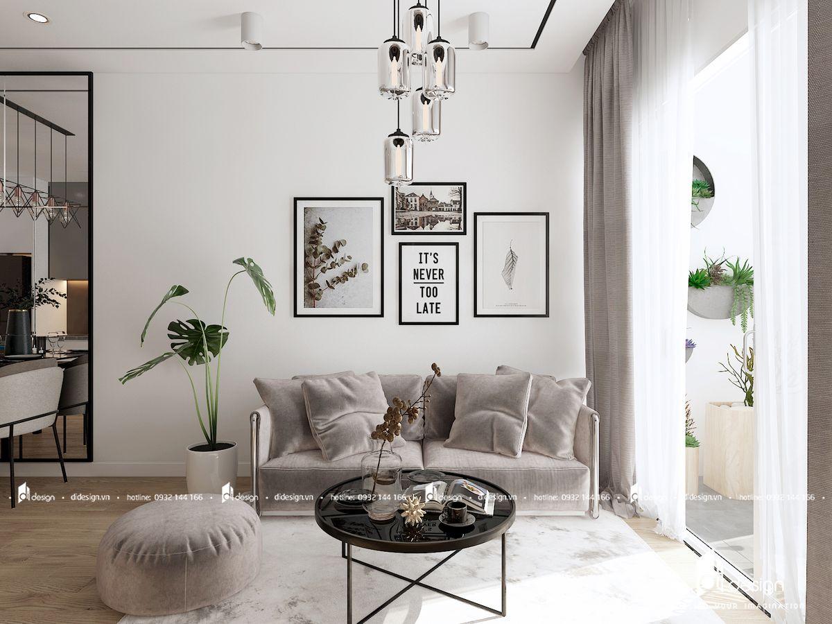 Thiết kế nội thất căn hộ Terra Royal 57m2 phong cách hiện đại