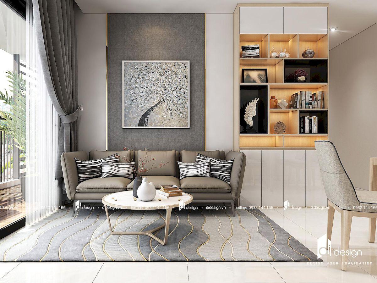 Thiết kế nội thất căn hộ 2 phòng ngủ The Sun Avenue 86m2