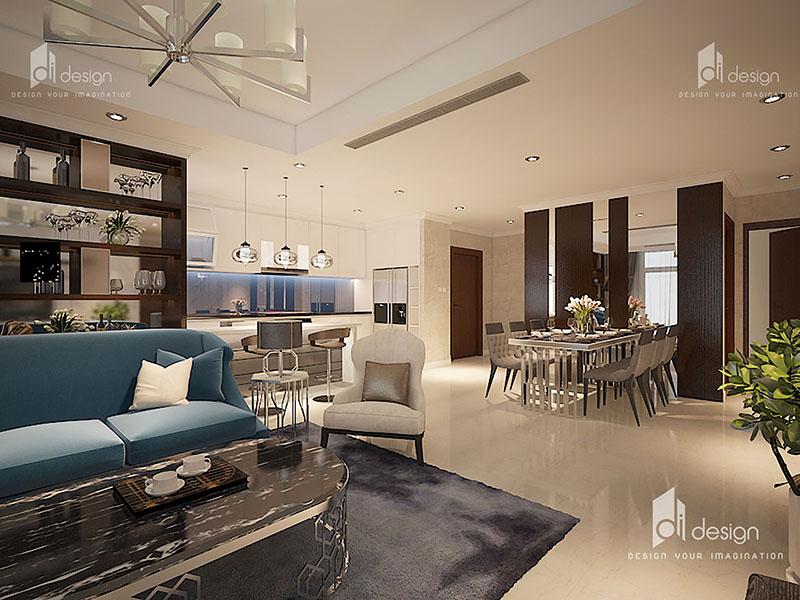 Thiết kế nội thất căn hộ Vinhomes Central Park 143m2