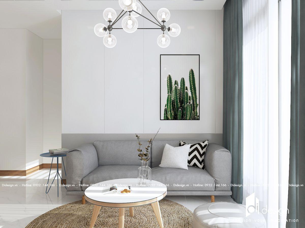Thiết kế nội thất căn hộ cho thuê Vinhomes Grand Park mang màu sắc nhiệt đới