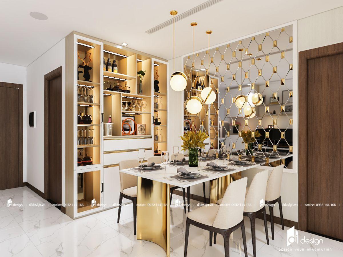 Thiết kế nội thất căn hộ Angia Skyline 112m2