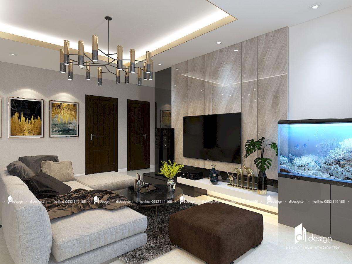 Thiết kế căn hộ chung cư 145m2 3 phòng ngủ HimLam Riverside