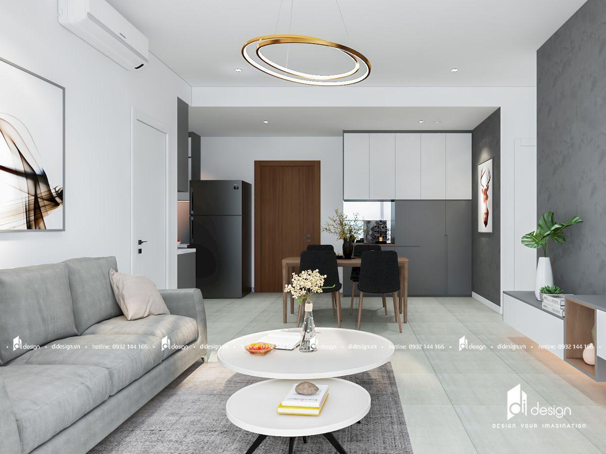 Thiết kế nội thất căn hộ Diamond Island Đảo Kim Cương 72 m2 2 Phòng Ngủ