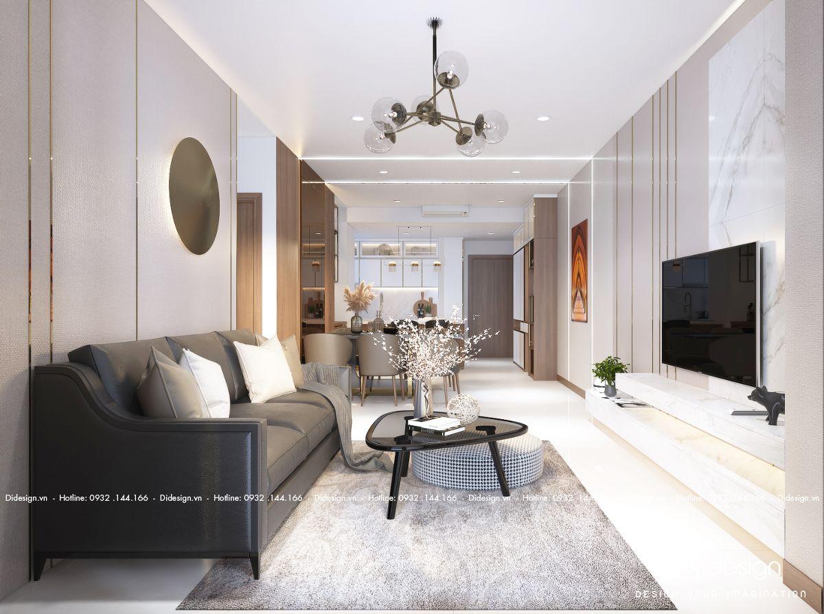 Thiết kế nội thất căn hộ 89m2 La Partenza hiện đại cá tính riêng chủ nhân.