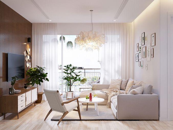 Thiết kế nội thất căn hộ 9 view 75m2 tiện nghi 2019