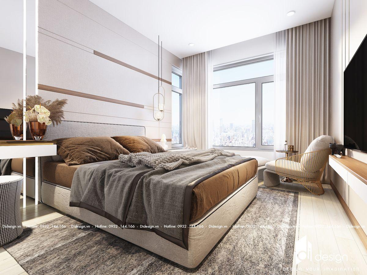 Thiết kế nội thất căn hộ Sunwah Pearl 98m2 đẹp tinh tế