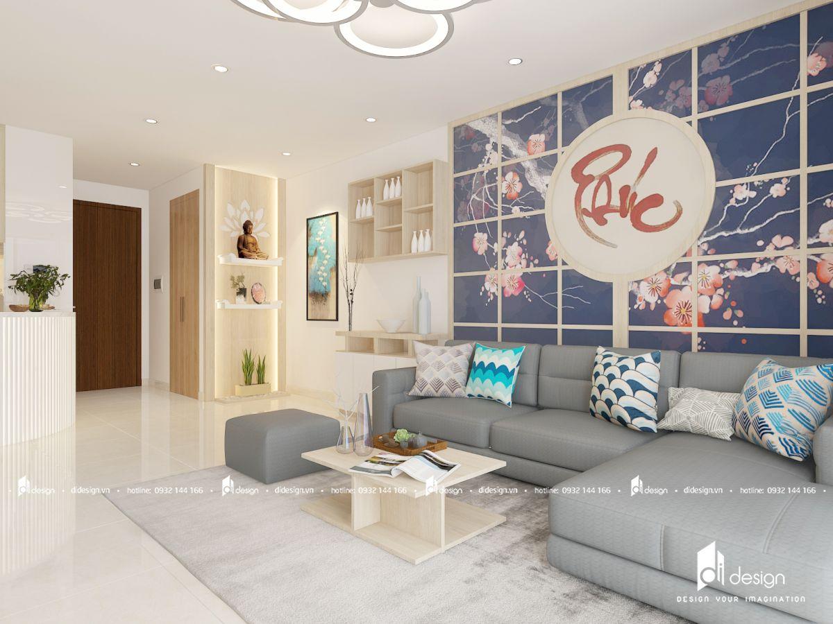 Thiết kế nội thất căn hộ Centana Thủ Thiêm 97m2 phong cách Nhật
