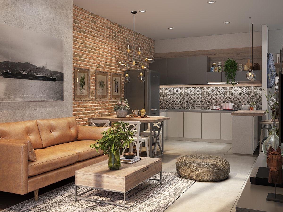Thiết kế nội thất căn hộ Copac Square mộc mạc