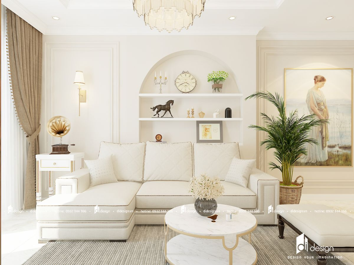 Thiết kế nội thất căn hộ Hà Đô Green Lane phong cách cổ điển