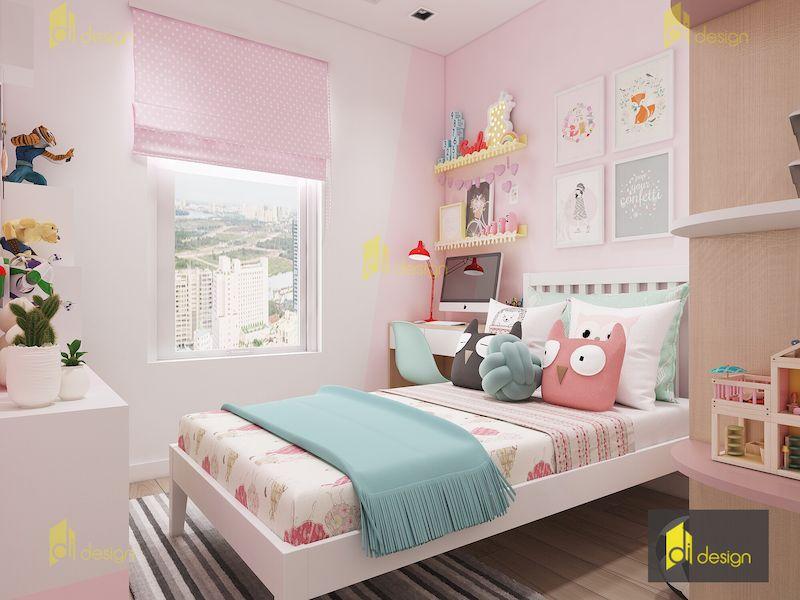 Thiết kế nội thất phòng bé căn hộ Masteri Millennium 59m2