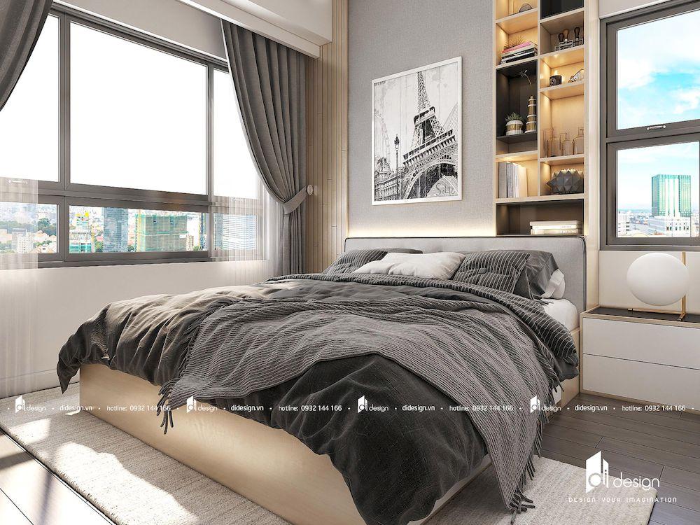 Thiết Kế Nội Thất Căn Hộ 80m2 Tara Residence 2 Phòng Ngủ
