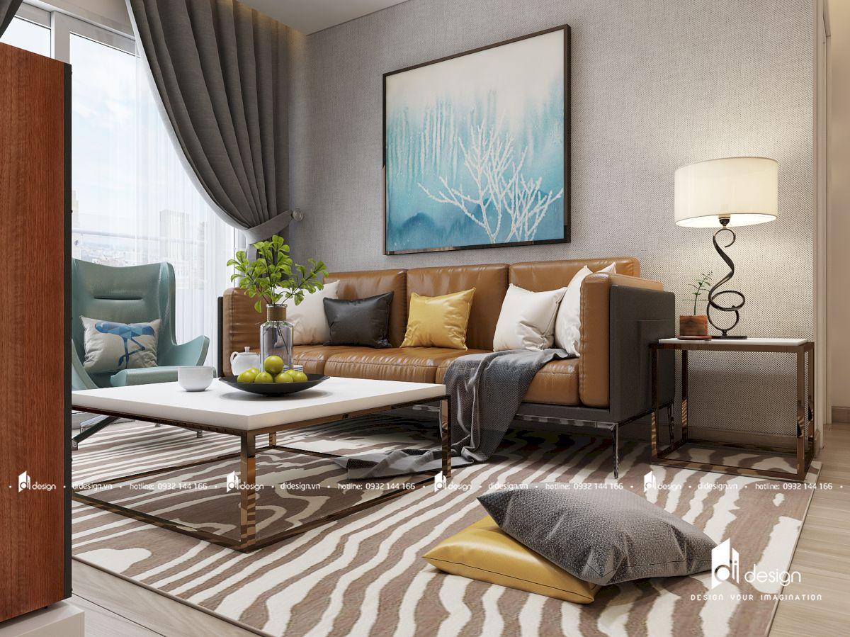 Thiết kế nội thất căn hộ Victoria Queen 114m2 phong cách hiện đại