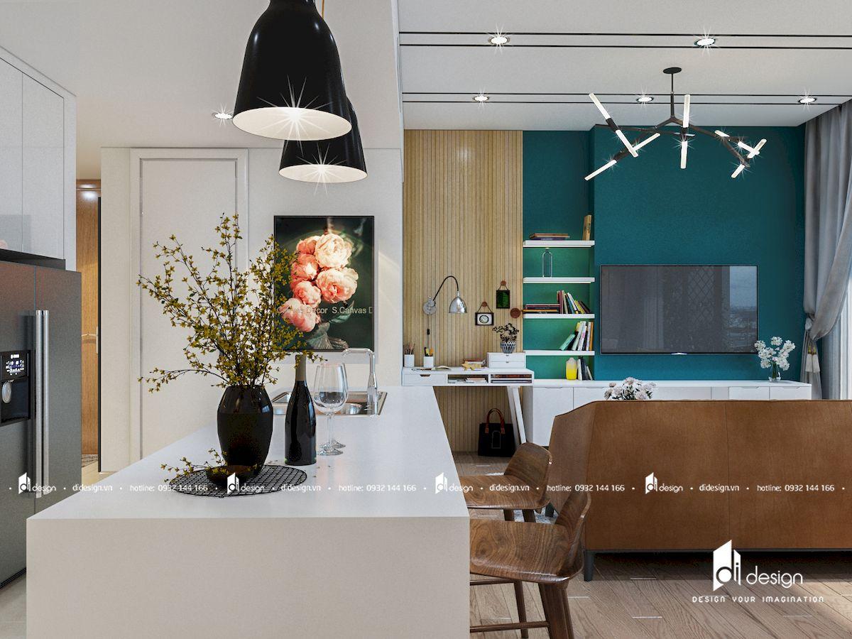 Thiết kế nội thất căn hộ Bộ Công An 80m2 đẹp