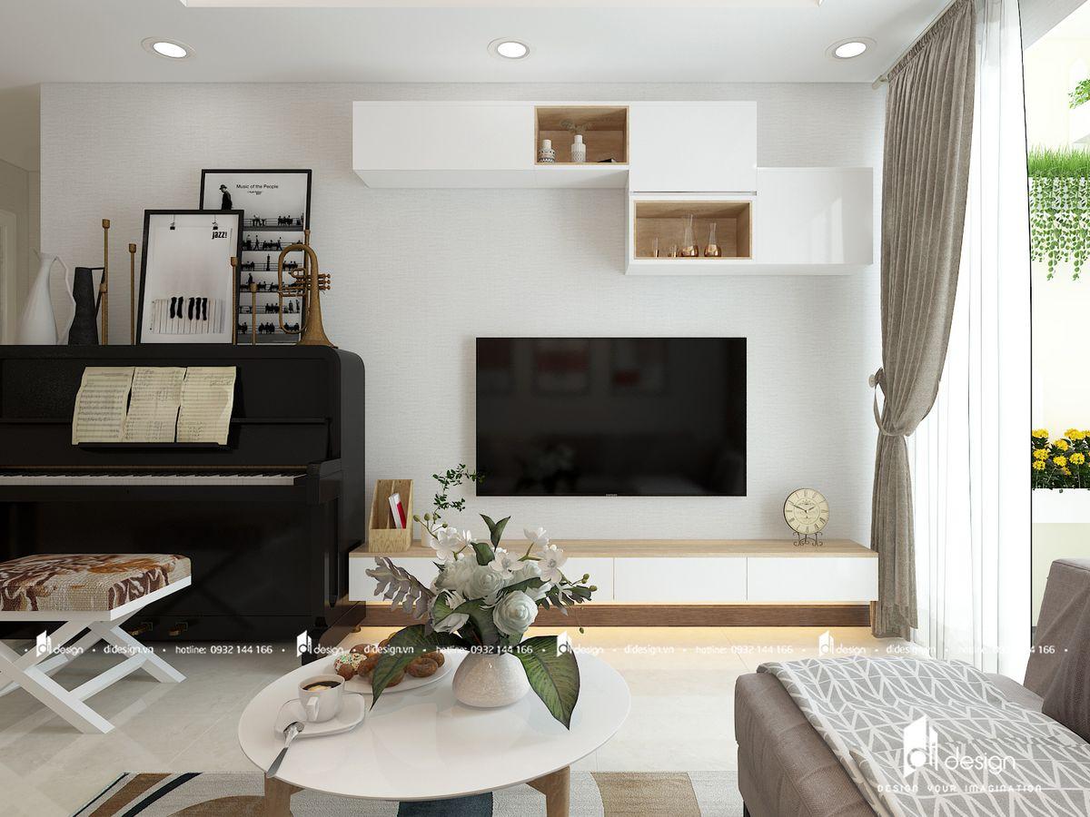 Thiết kế nội thất căn hộ Lucky Palace 76m2